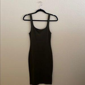 Zara Forest Green Midi Tank Dress - Small